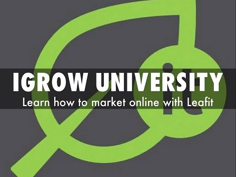 iGrow University - Become an iGrow University Guru with Leafit