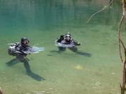 cave diving Dordogne 2010