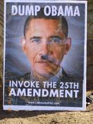 Dump Obama sign