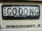 The gongmobile Number plate