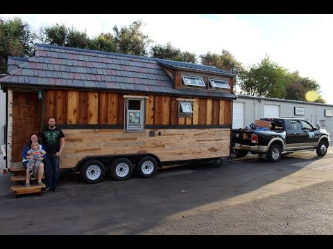 Self-Built Tiny House for Family of Three