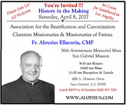Fr. Aloysius Sainthood Invitation for Mass and Luncheon
