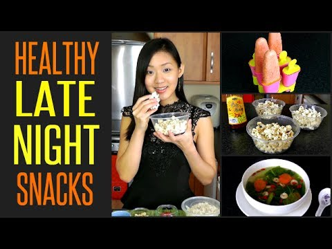9 Healthy LATE NIGHT Snacks (Under 100 Calories)