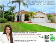 Embassy Lakes | Cooper City | Patty Da Silva REALTORS