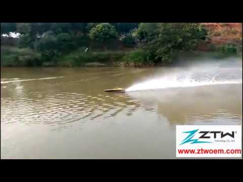 ZTW Rc boat 82cm 6s li pocv 42 test with GPS,ZTW Seal Brushless ESC inside