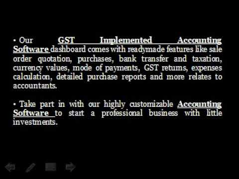 GST Implemented Accounting Software | VAT Accounting Software