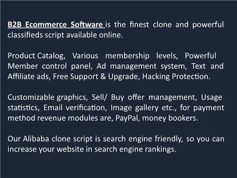 Buy and Sell PHP Script | B2B Ecommerce Software