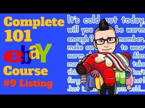 $$ The Complete 101 eBay Clothing Resale Course $$ Class # 9 How To List Items