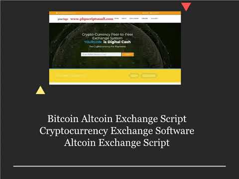 Bitcoin Altcoin Exchange Script | Cryptocurrency Exchange Software