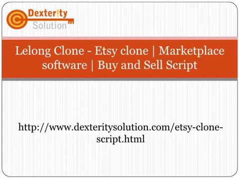 Lelong Clone - Etsy clone | Marketplace software | Buy and Sell Script
