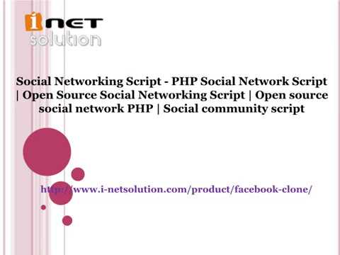Open source social network PHP | Social community script  ( i-netsolution )