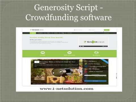 Generosity Script - Crowdfunding software ( i-netsolution )
