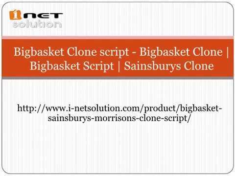 ( i-netsolution ) Bigbasket Clone script