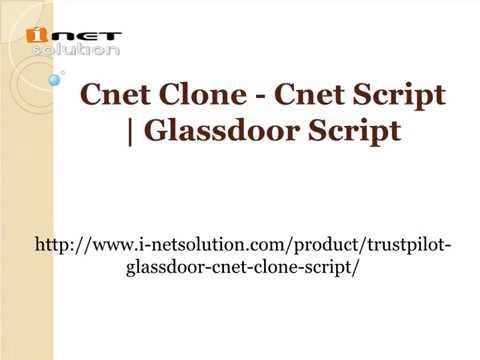 Cnet Clone - Cnet Script | Glassdoor Script