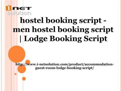 Lodge Booking Script - hostel booking script