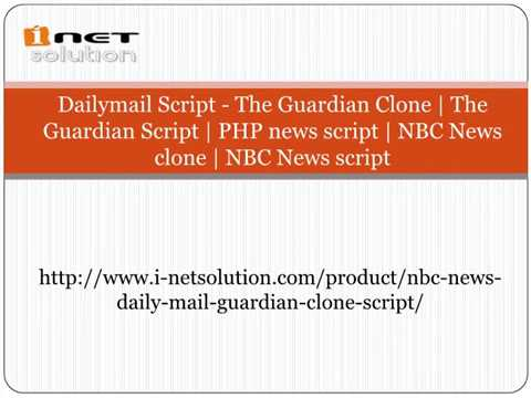 The Guardian Script  PHP news script