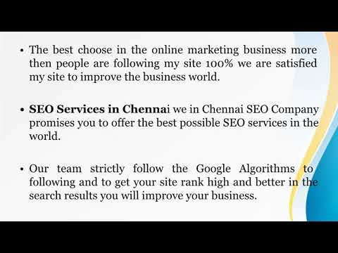 SEO in Chennai | SEO Company in Chennai | SEO Services in Chennai