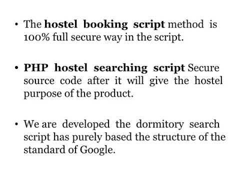 Hostel booking script   PHP hostel searching script   Men hostel booking script
