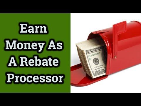 Earn Money As A Rebate Processor