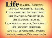 LIFE IS A GIFT.
