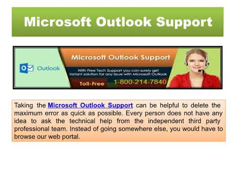 Outlook Help Number 1 800 214 7840