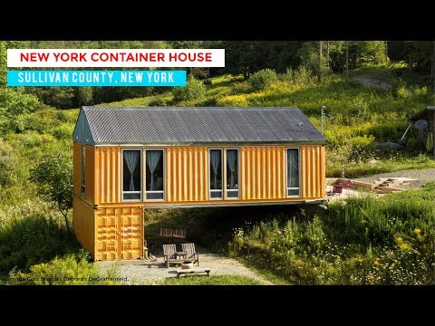 Livingston Manor Container House: Bigprototype and Tim Steele Design in Sullivan County, New York