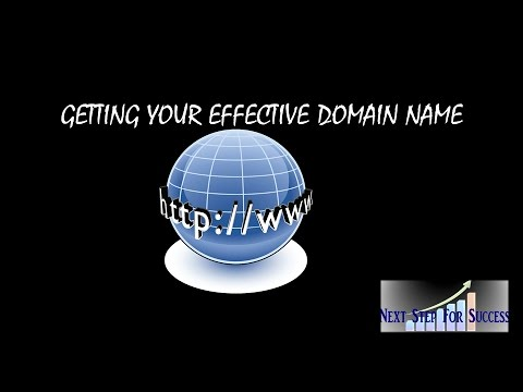 Getting An Effective Domain Name