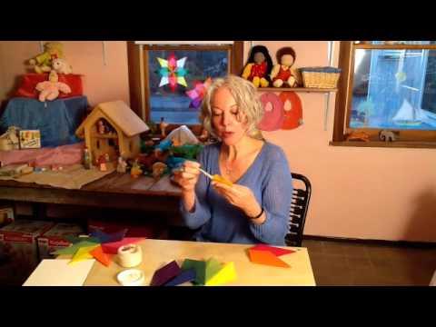 How to Make Waldorf Paper Window Stars