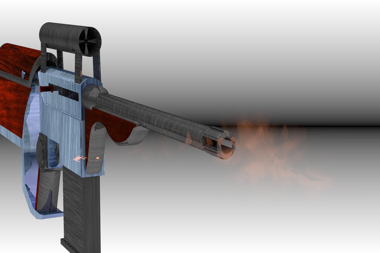 Gun Firing Test Render 1