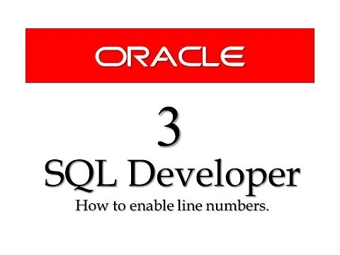 Oracle Database tutorials 3:How to enable Line numbers in SQl Developer.