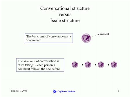 The Limits of Conversational Structure
