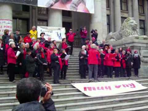 May Day Vancouver 2012 Labour Chorous sings the Internationale.wmv