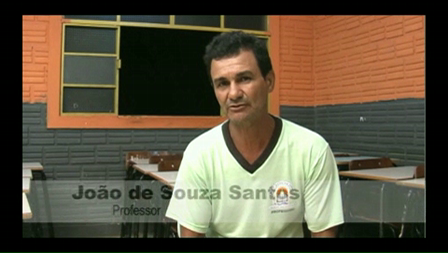 Depoimento do Sr. João de Souza Santos - Professor da Escola Municipal Nossa Senhora de Nazaré (Mutum Paraná)