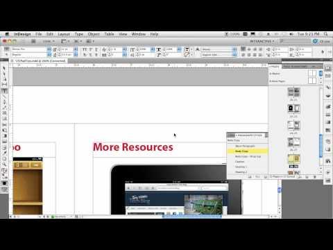 Adobe CS5 dá suporte à criação de ePub