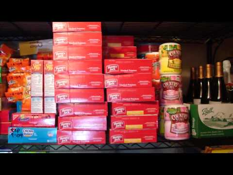 A Survivalist Basement Survival Storage Food - 1 of 2 For When SHTF