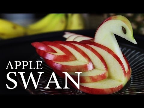 How to Make an Edible Apple Swan!