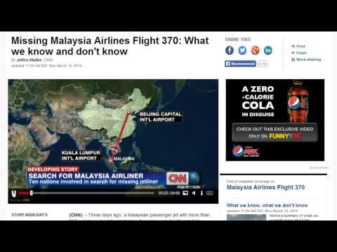 Important Facts You're Not Being Told About Lost Malaysia Airlines Flight 370!