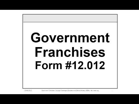 Government Franchises Course, Form #12.012