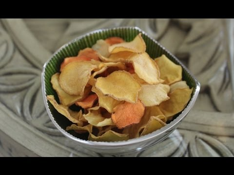 Simple healthy potato chips - no baking, no frying