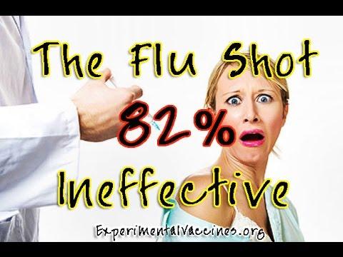 Flu Shot 82% INEFFECTIVE!
