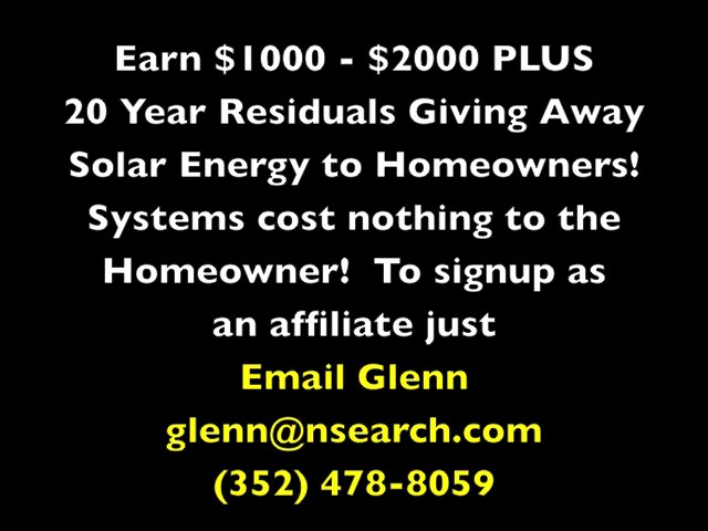 Elevate Solar - Make Money Giving Away Solar Energy to Homeowners