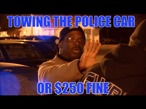 Police Car getting Towed or Pay Fine | Cop Parks illegally - Charleston, SC