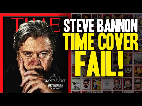 TIME manipulates Steve Bannon cover photo!