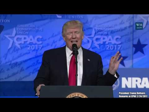 FULL SPEECH: President Donald Trump Tears Into Hillary Clinton, Obama, Democrats & CNN At CPAC 2017