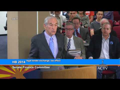 Breaking! Bill To Use Silver and Gold As Money 2017 Ron Paul Testimony PT 1