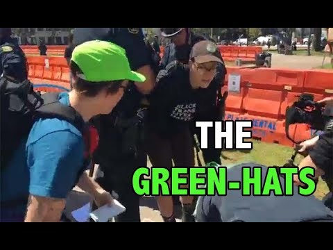 Liberals Arrested & Swarmed By Green Hats Lawyer's Guild | Berkeley Rally