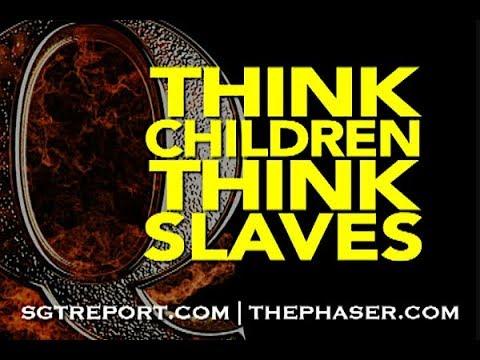 Q: THINK CHILDREN. THINK SLAVES.