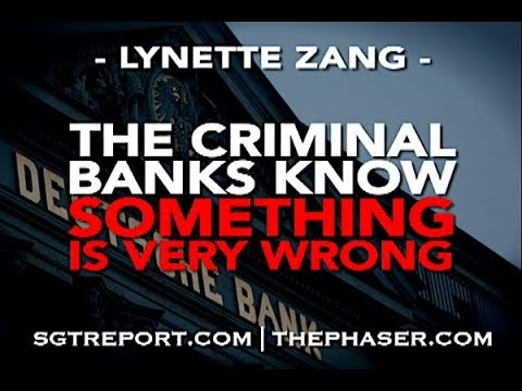 The Criminal Banks KNOW Something Is Very Wrong -- Lynette Zang