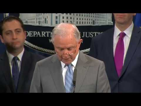 Attorney General Jeff Session holds a press conference | Thursday, 22 February 2018