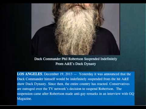 Duck Commander Phil Robertson Suspended Indefinitely From A&E's Duck Dynasty  @WEEBATTLE